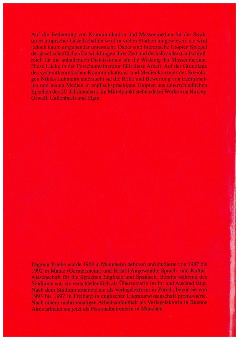 Kommunikation und Massenmedien … - Rückencover