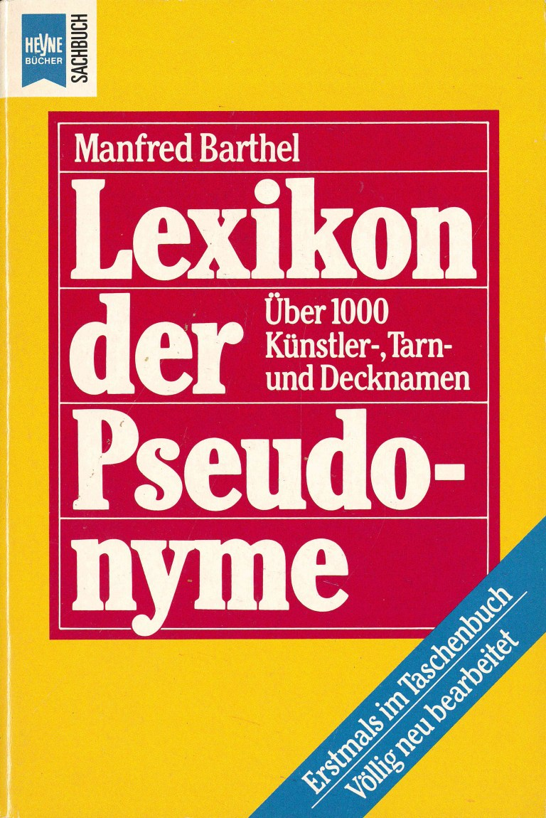 Lexikon der Pseudonyme - Titelcover