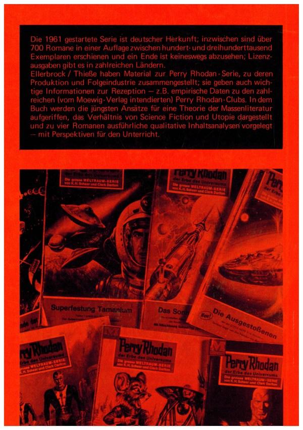 PR Untersuchung einer Science Fiction-Heftromanserie - Rückencover