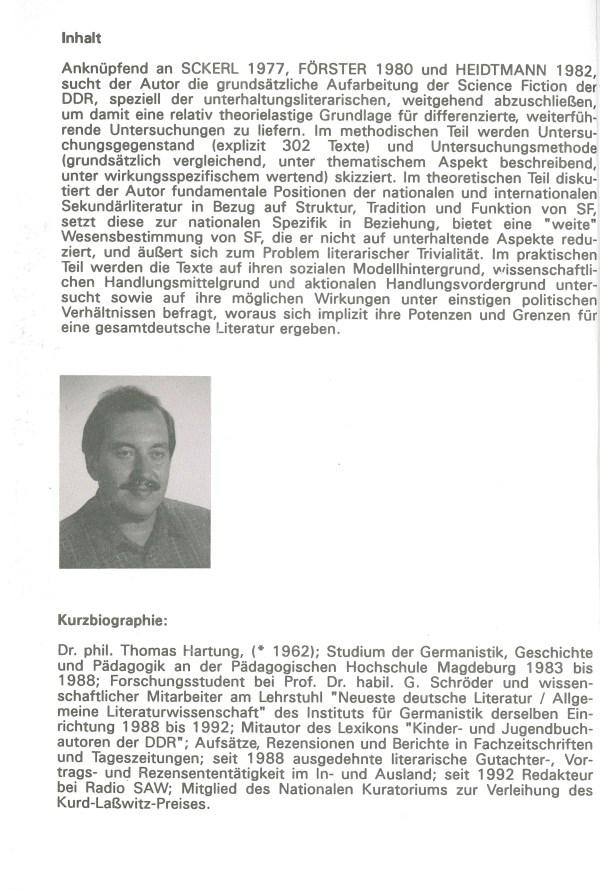 Die SF der DDR von 1980-1990 - Inhalt Beschreibung