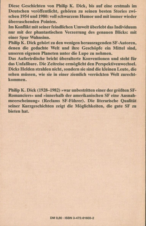 P. K. Dick-Eine Spur Wahnsinn - Rückencover