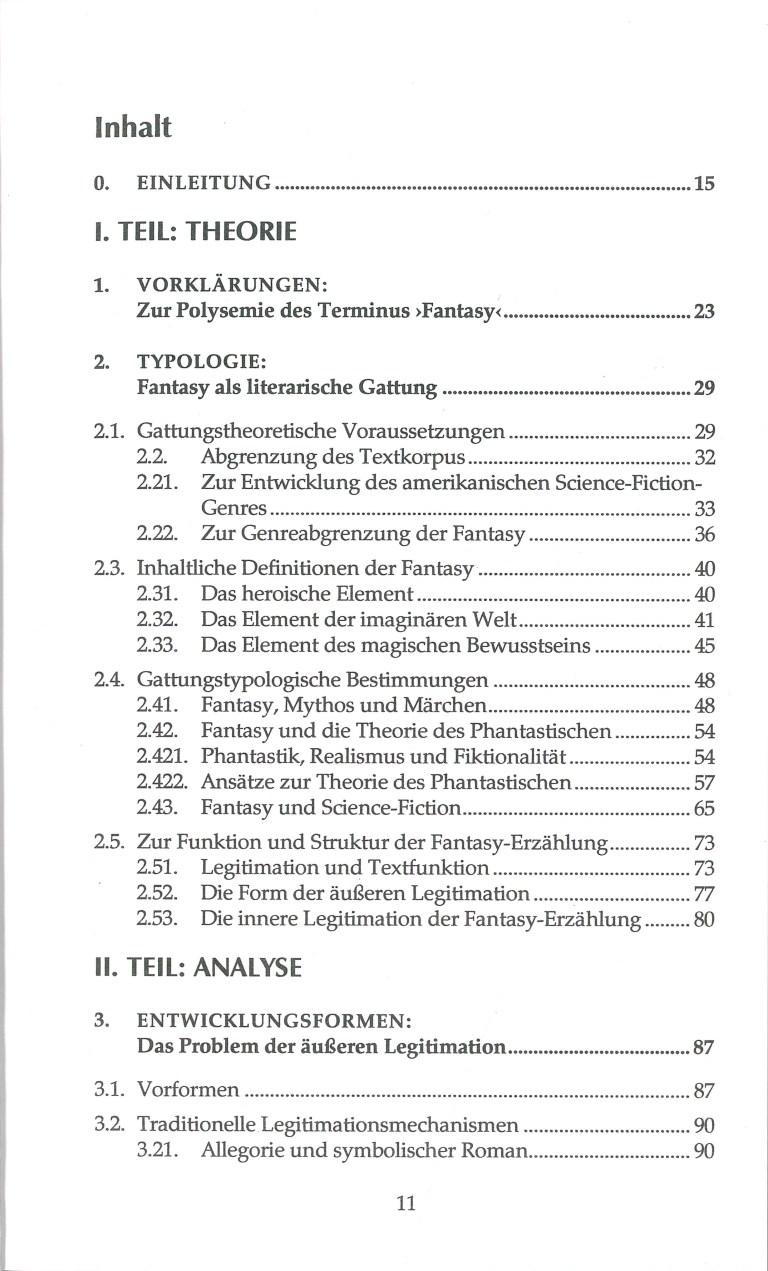 Fantasy - Inhalt Seite 1