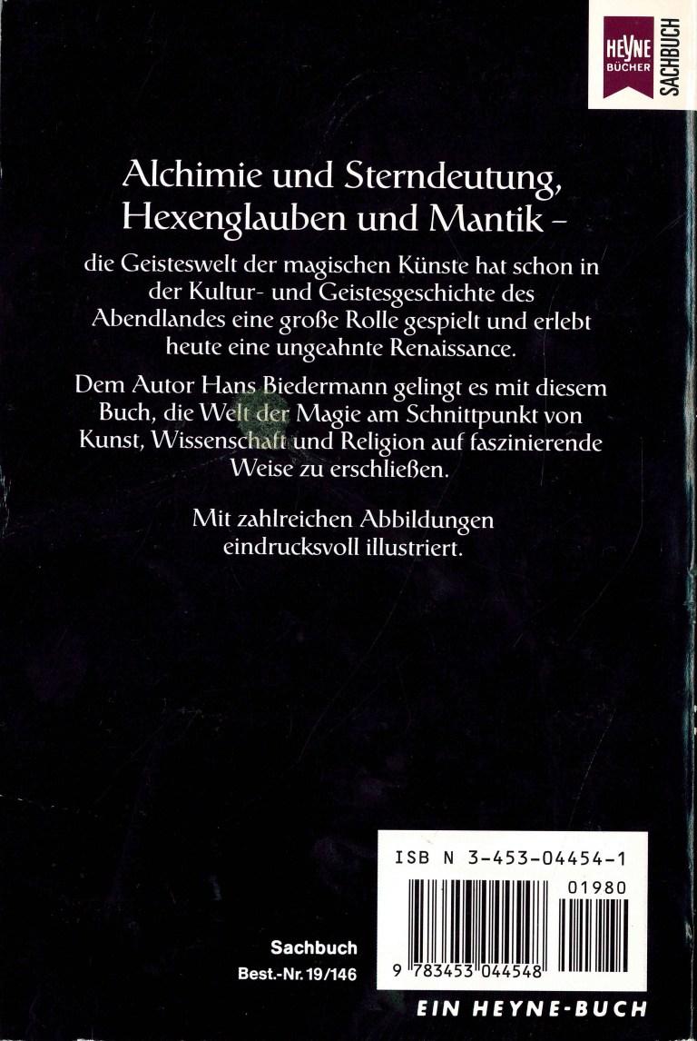 Lexikon der magischen Künste - Rückencover
