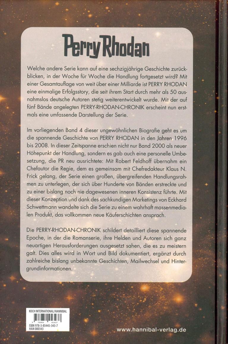 Perra Rhodan, Die Chronik, Band 4 - Rückencover