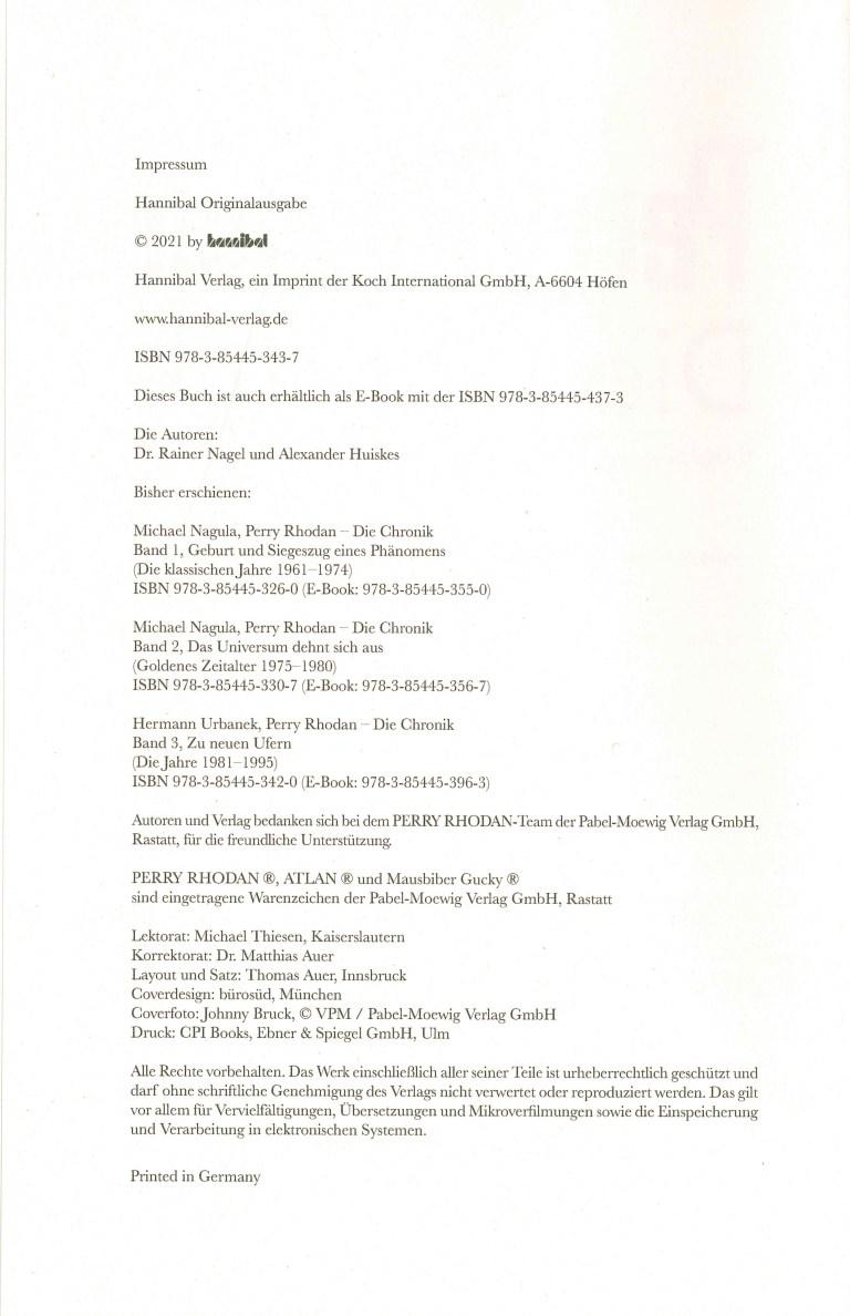 Perra Rhodan, Die Chronik, Band 4 - Impressum