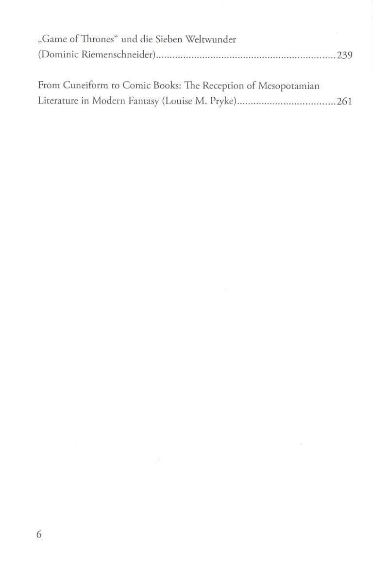 Antikenrezeption in der Fantasy - Inhalt Seite 2