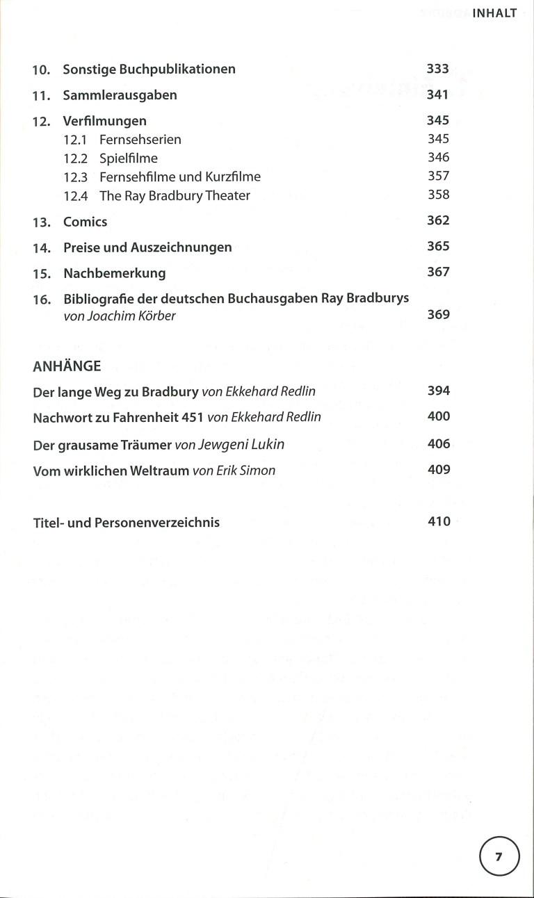 Ray Bradbury - Inhalt Seite 3