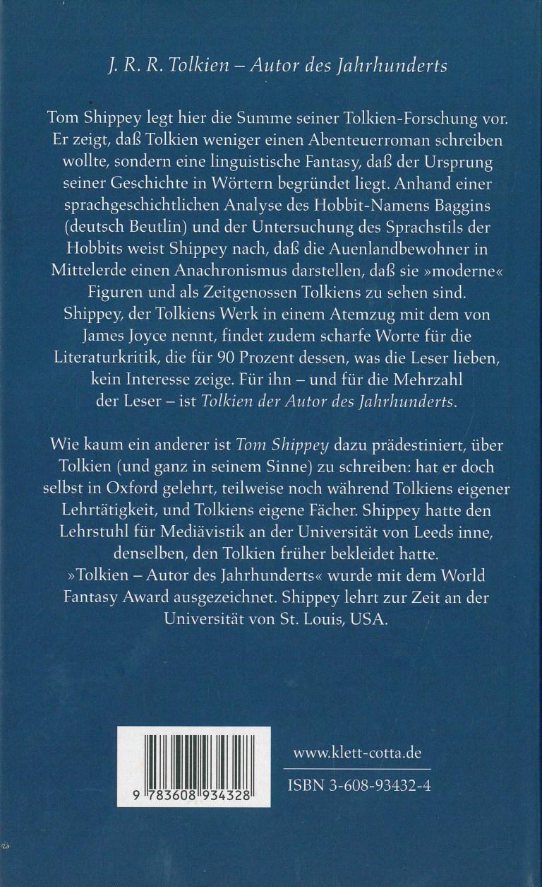 J. R. R. Tolkien - Rückencover
