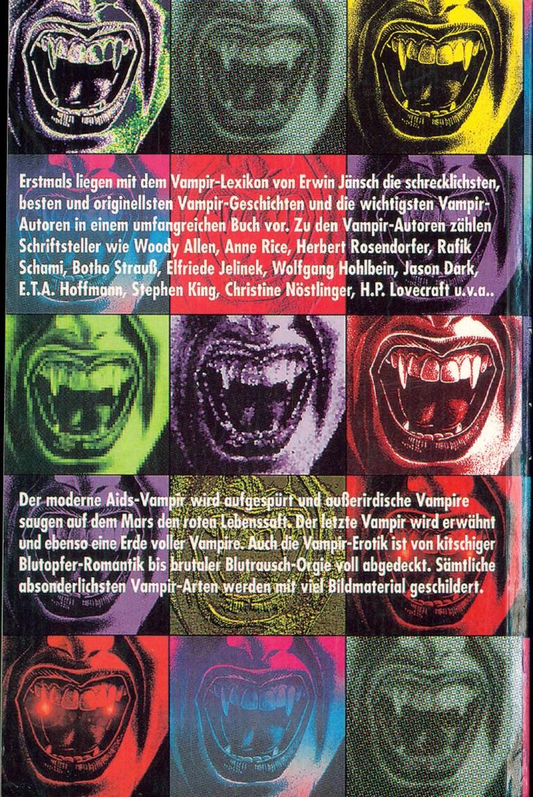 Vampir-Lexikon - Rückencover
