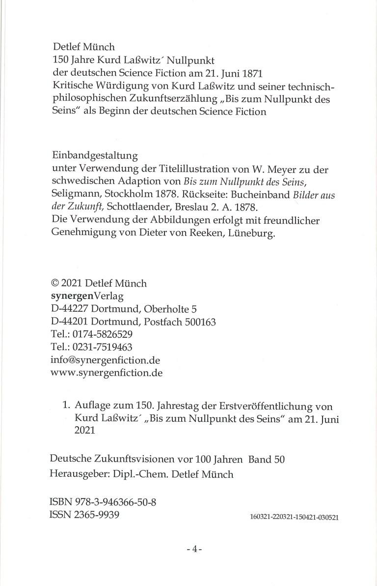150 Jahre Kurd Laßwitz … - Impressum