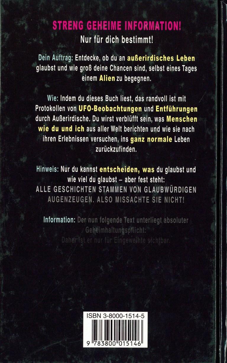 Akte Aliens - Rückencover