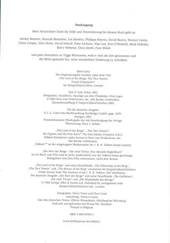 HDR-Das offizielle Begleitbuch-Die zwei Türme - Impressum