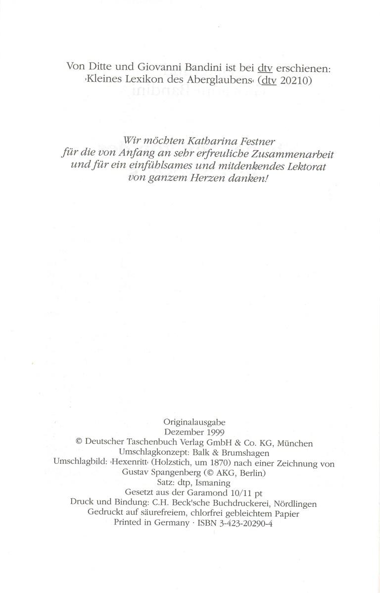 Kleines Lexikon des Hexenwesens - Impressum