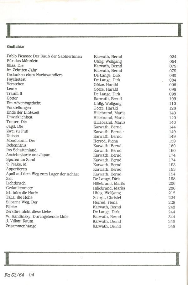 Fantasia, Nr. 63-64 - Inhalt Seite 2