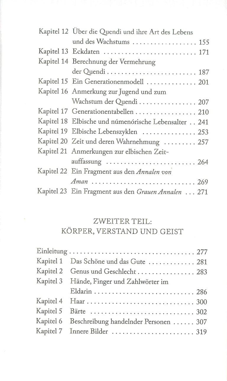 Natur und Wesen von Mittelerde - Inhalt Seite 2