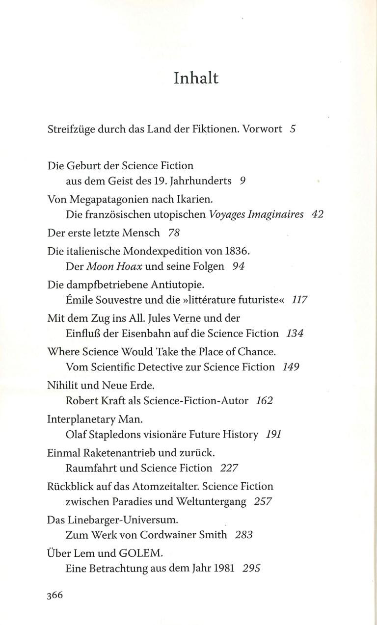 Streifzüge - Inhalt Seite 1