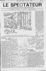 Le Spectateur, 1909