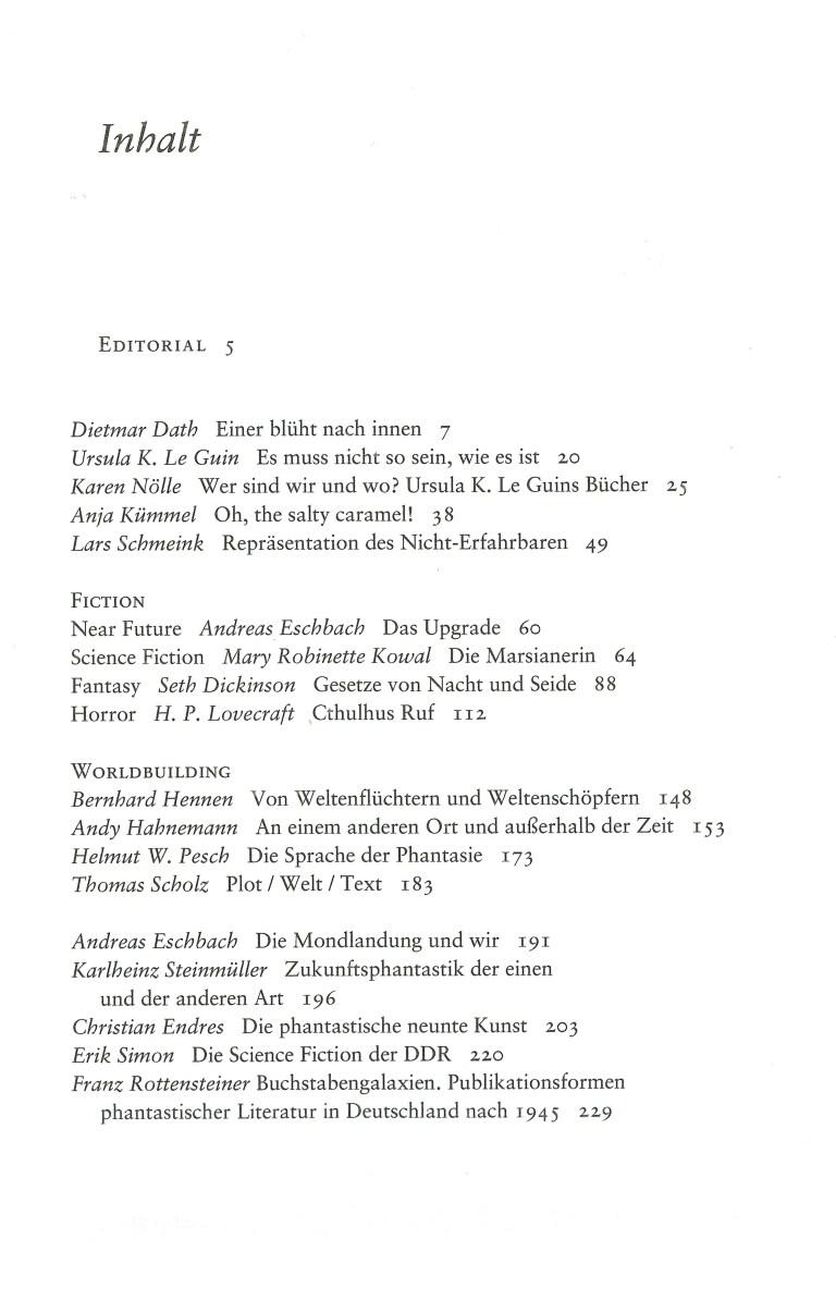 NEue Rundschau, Heft 1, 2019 - Inhalt Seite 1