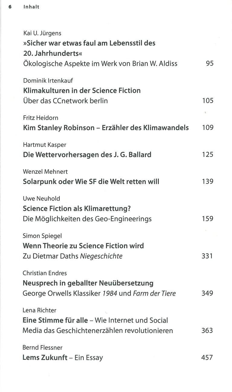 Das Science Fiction Jahr 2021 - Inhalt Seite 2
