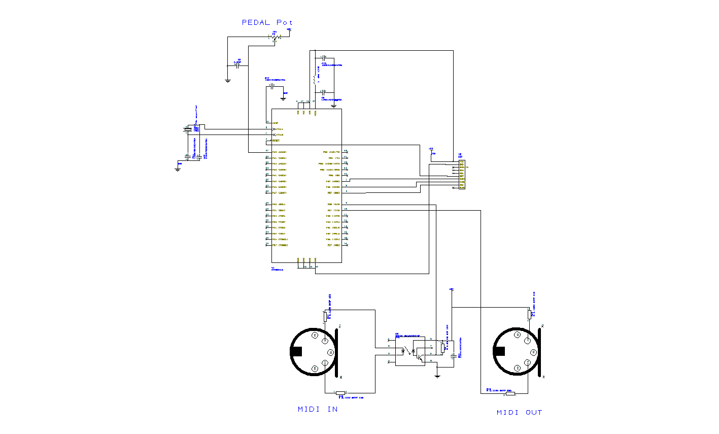 Expression Pedal Midi Controller Midi Merge