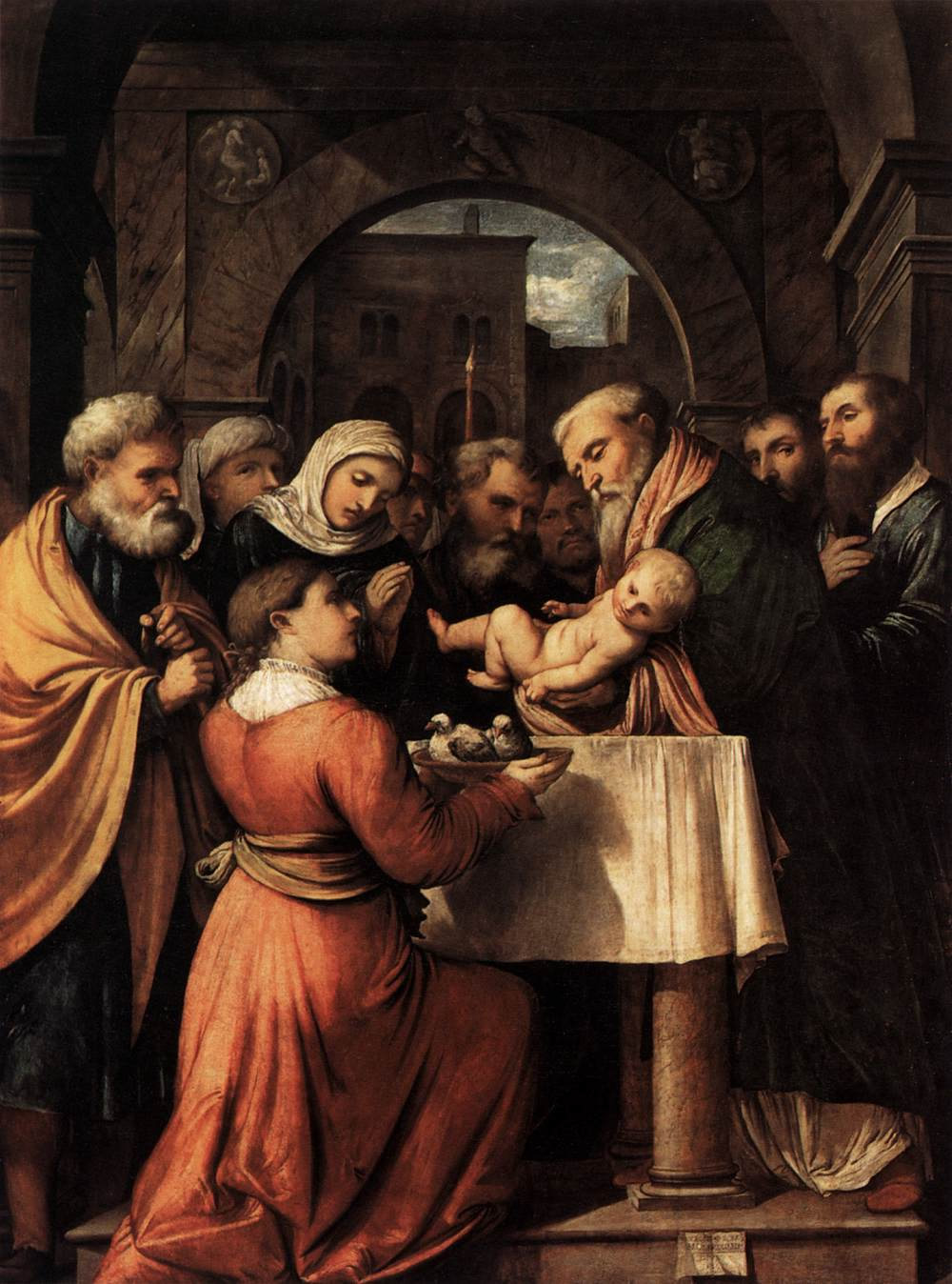 Girolamo Romanino, Presentation of Jesus at the Temple