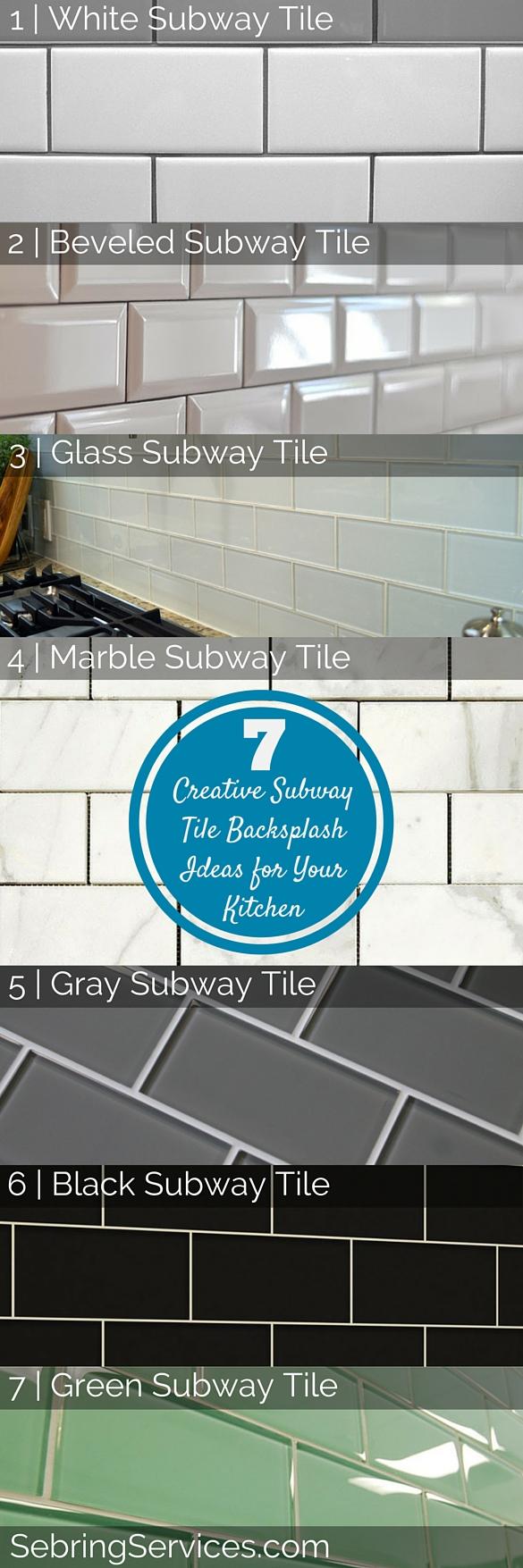 7 creative subway tile backsplash ideas