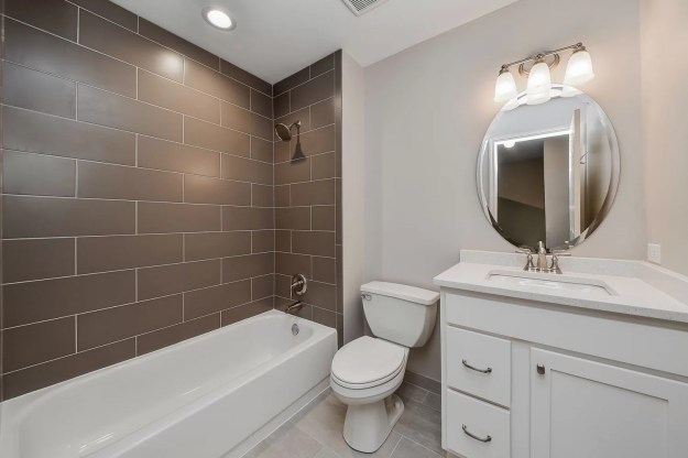 charles & cindy's hall bathroom remodel pictures | home remodeling