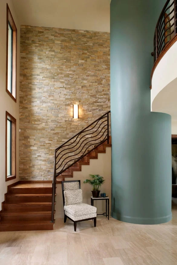95 Ingenious Stairway Design Ideas For Your Staircase Remodel | Duplex Stairs Wall Design | Middle Room Interior Design | Attractive | Staircase Wall Panel | Living Room Layout | Bungalow Duplex Indian