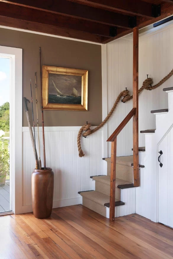95 Ingenious Stairway Design Ideas For Your Staircase Remodel   Carpet Stairs In The Woods   Wilderness   Open Wooden Stair   Glitter   Country House   Traditional