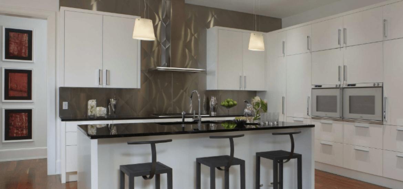 stainless steel metal backsplash ideas