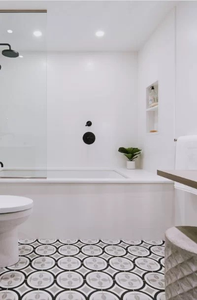geometric tile design ideas for kitchen