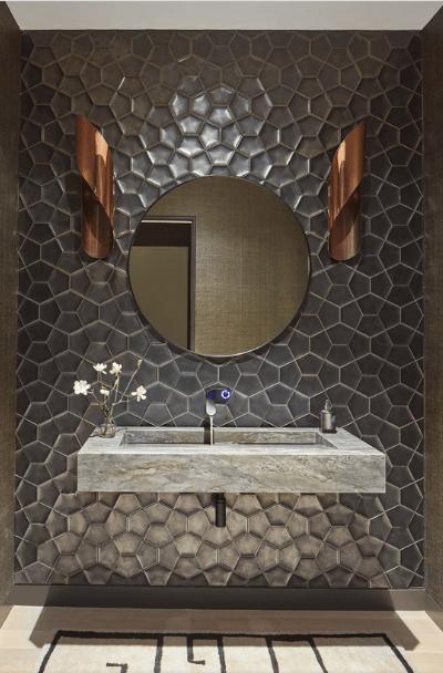 23 metallic tile design ideas for your
