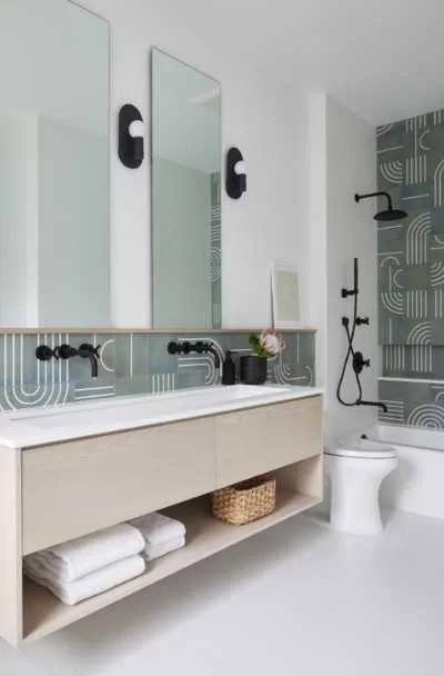 31 wall mounted floating vanity cabinet