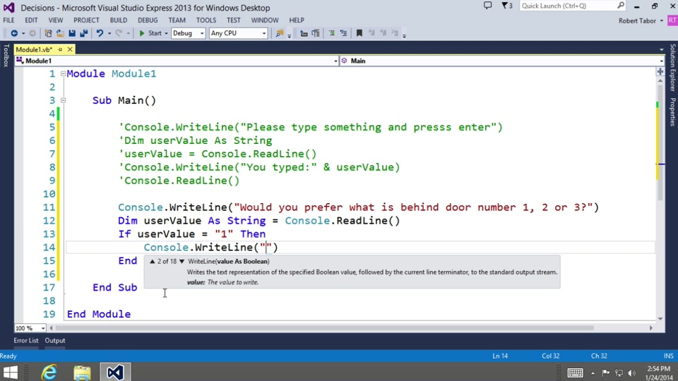 Visual Basic Fundamentals For Absolute Beginners 07