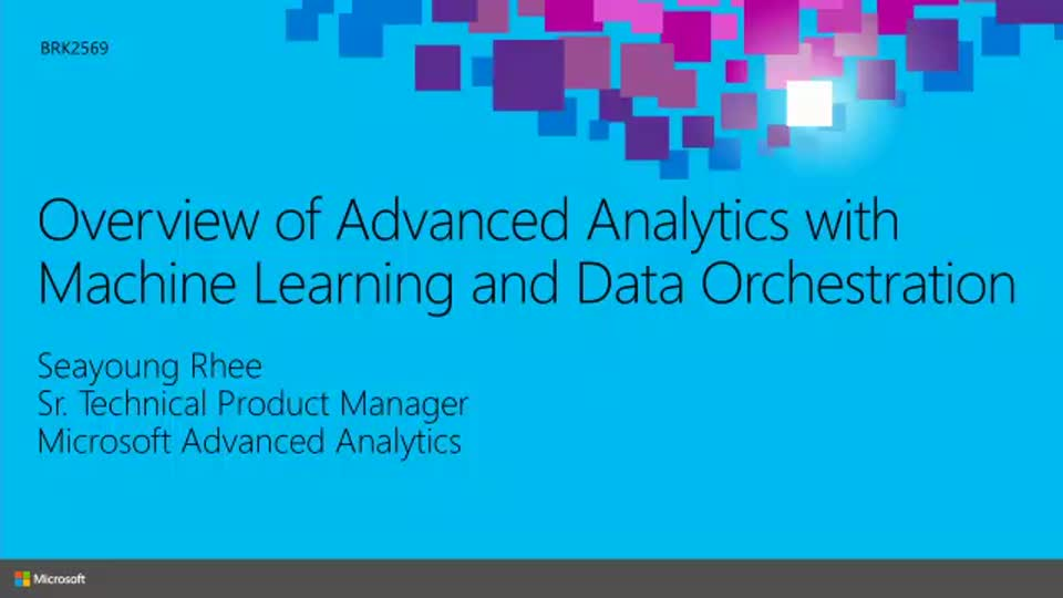 Overview Of Advanced Analytics With Machine Learning And