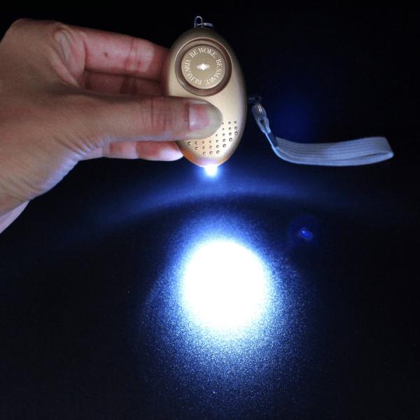 Alarm Keychain Gold Light