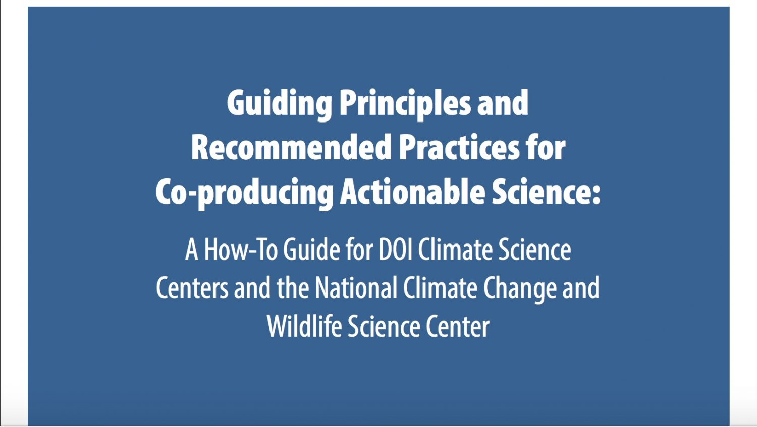 Science Planning And Implementation Southeast Climate