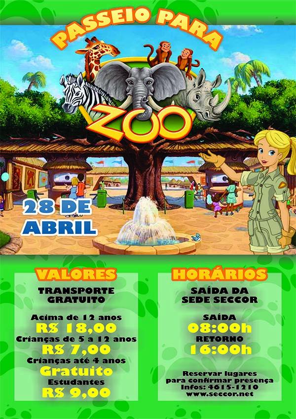 Cartaz Zoológico
