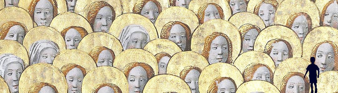 photo de saints auréolés illustrant le fétichisme