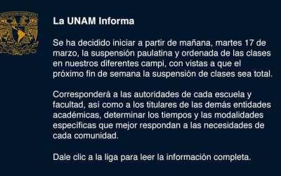 La UNAM informa (16-3-2020)