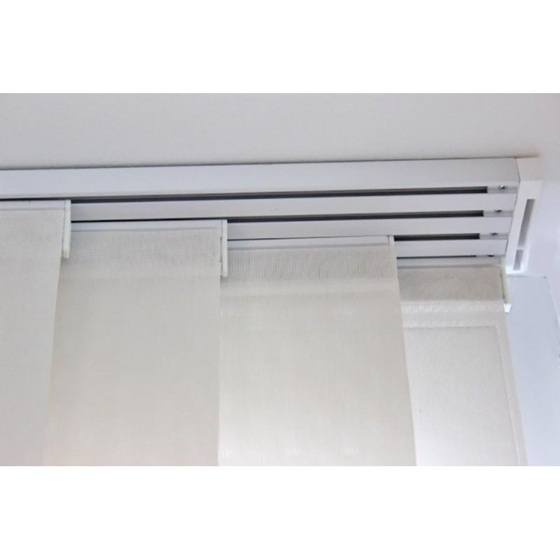 kit rail panneaux japonais 0 80 metre 2 voies 2 coulissants 45 cm blanc