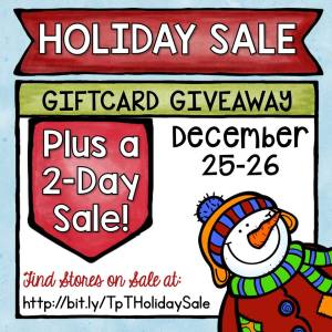 Quick Christmas Sale and Gift Card Giveaway!