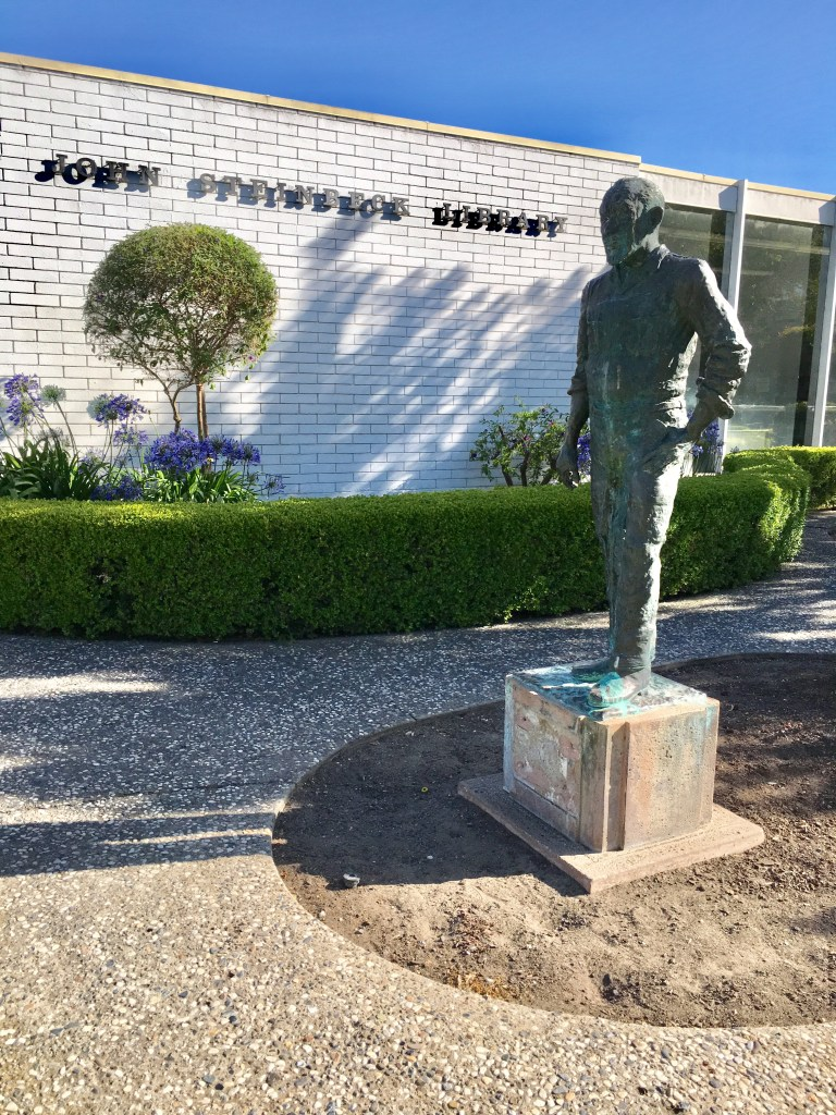Steinbeck Statue Library
