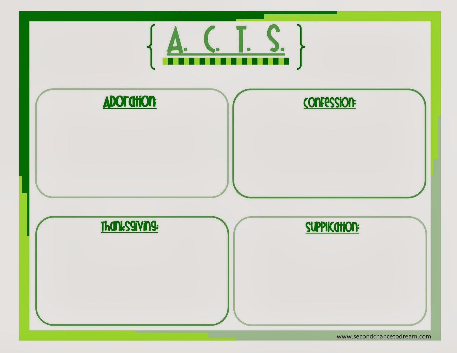Acts Prayer Printable That Are Genius