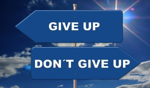 Overcoming a Fear of Failure by Not Giving Up