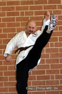 Crescent Kick executed during the Black Belt testing Cycle