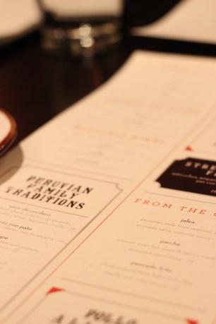 Tanta menu