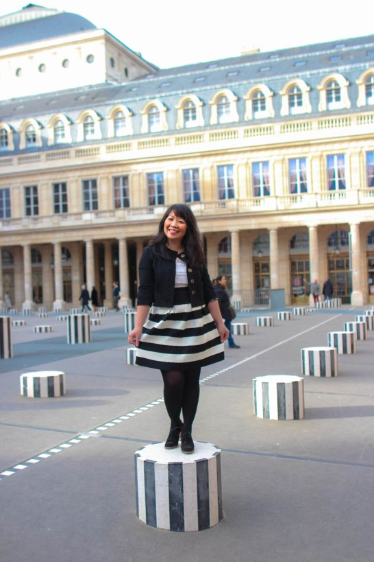 My curtsy at the Palais Royal