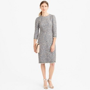 Jcrew Long sleeve tweed dress