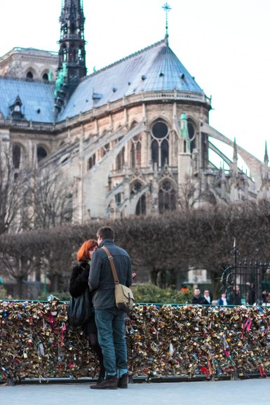 Lovers and Notre Dame Cathedral